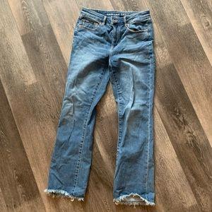 American eagle hogh rise crop flare  jeans